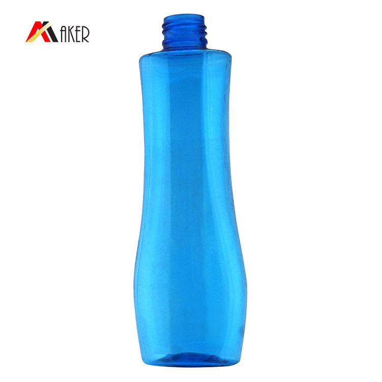 Hot selling empty 200ml PET cosmetic oil makeup remover plastic lotion bottle with pump