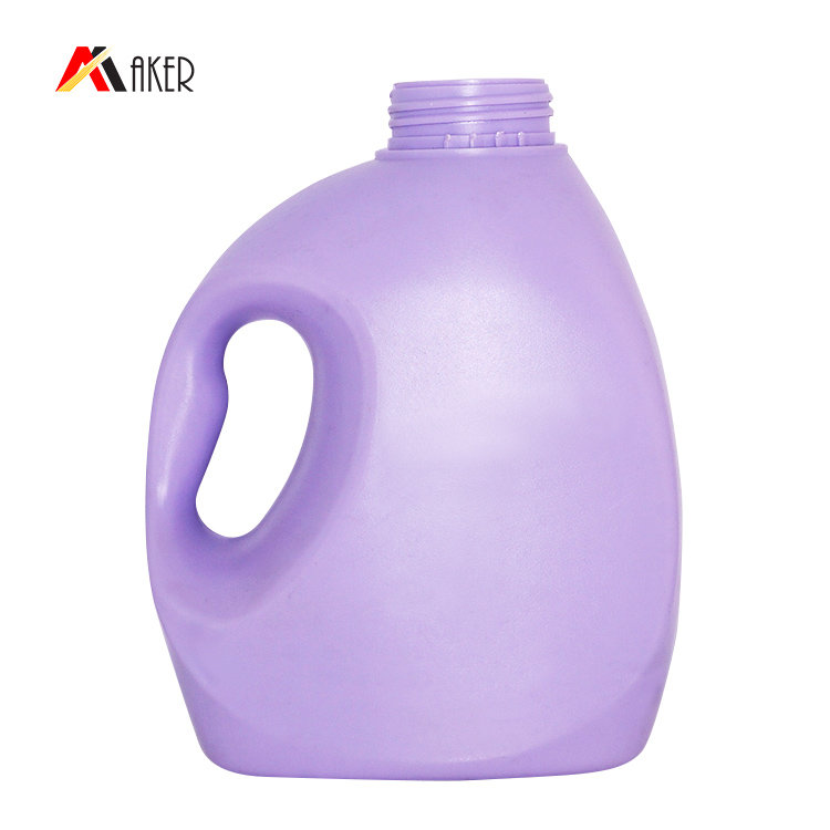1000ml 1300ml PE liquid detergent bottle wholesale price purple laundry detergent bottle with screw cap and handle
