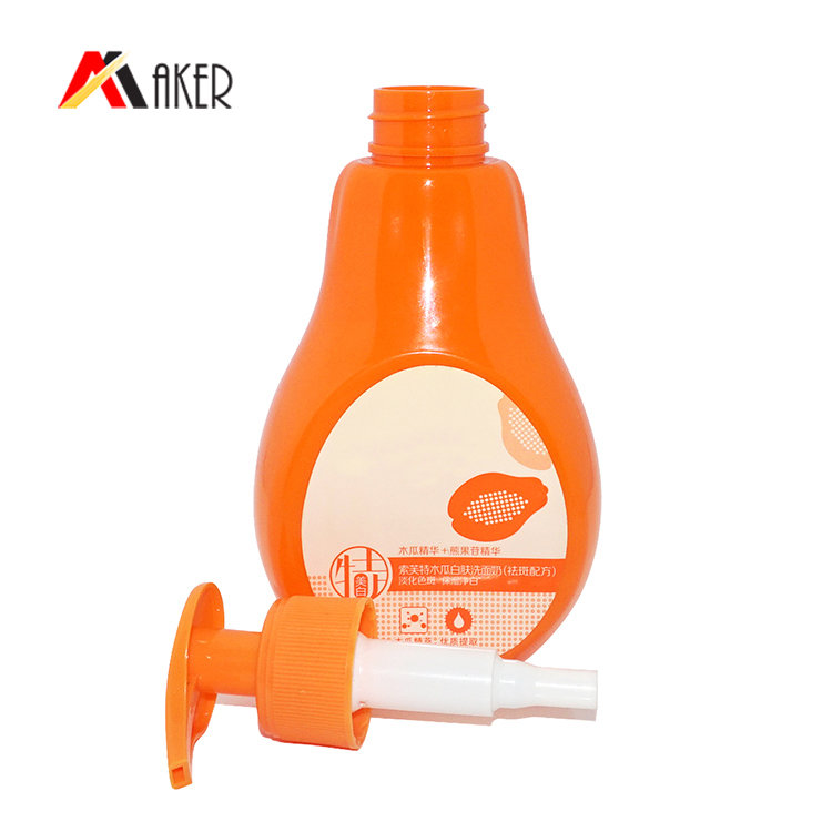 Factory wholesale customization 300ml special shape PET plastic shampoo bottle supplier with lotion pump