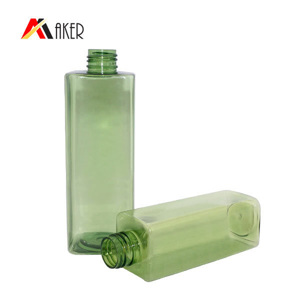 Best price green color empty square 150ml 300ml PET plastic bottle for lotion