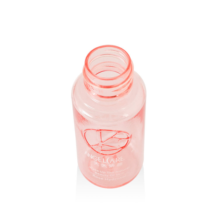 Luxury cylinder PET skincare bottle high quality empty 30ml plastic bottle for cosmetic serum toner