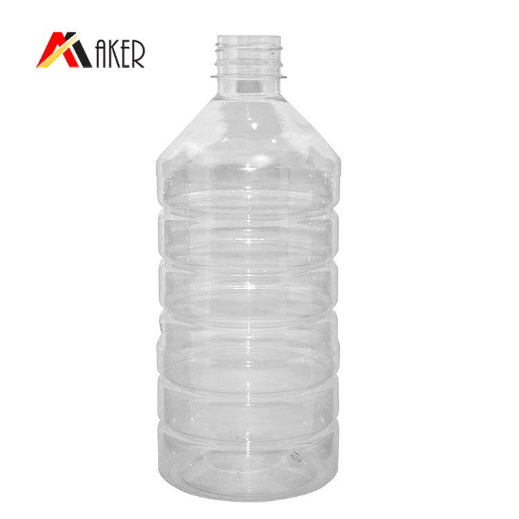 BPA free 1000ml PET mineral water bottle hot sell empty clear plastic bottle manufacturer with tamper proof cap