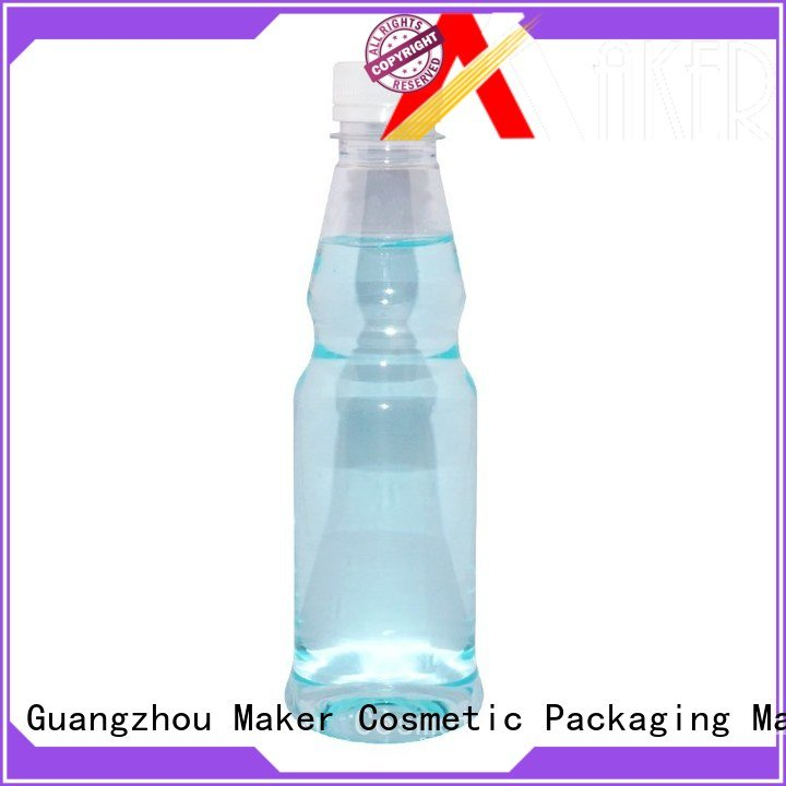 Maker clear fruit juice bottles long mouth wholesale