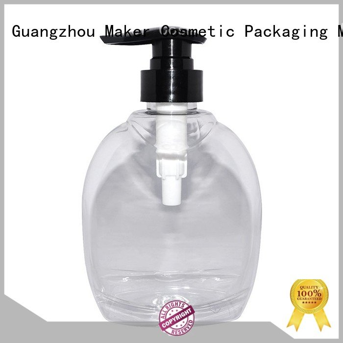 Maker Brand plastic lid cosmetic bottle silk factory