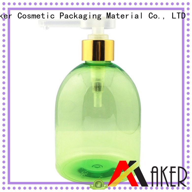 Custom green opaque cosmetic bottle Maker glossy